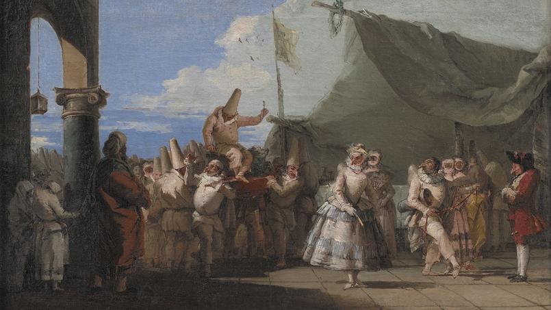 Giandomenico Tiepolo, Le Triomphe dePolichinelle, 1753-1754.