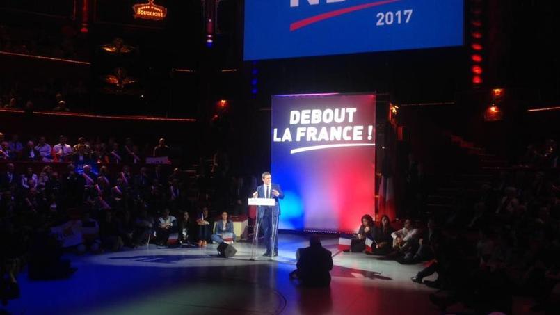 Dernier meeting avant le premier tour pour Nicolas Dupont-Aignan