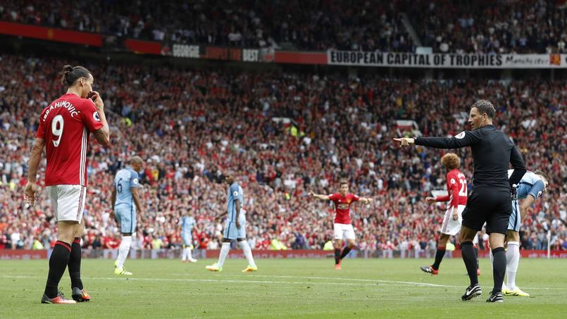 Zlatan Ibrahimovic lors du derby entre United et City le 10 septembre dernier