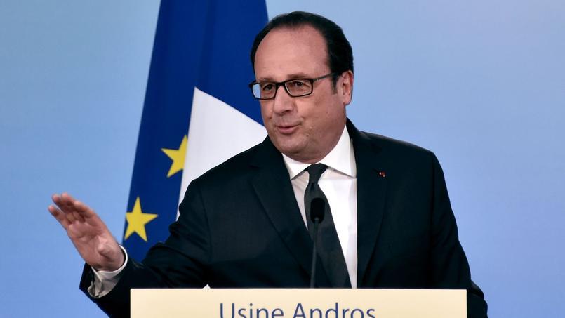 François Hollande, lors de son allocution à l'Usine Andros à Biars-sur-Cère dans le Lot.