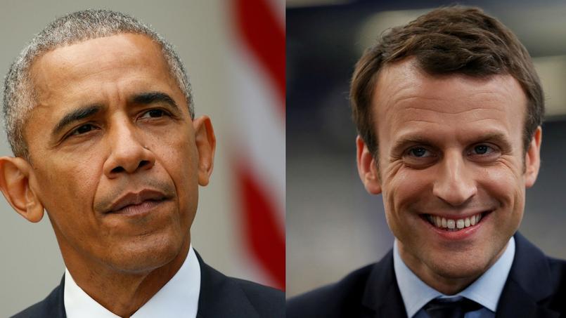 L'ancien président des Etats-Unis a eu un entretien téléphonique avec le candidat d'En Marche!