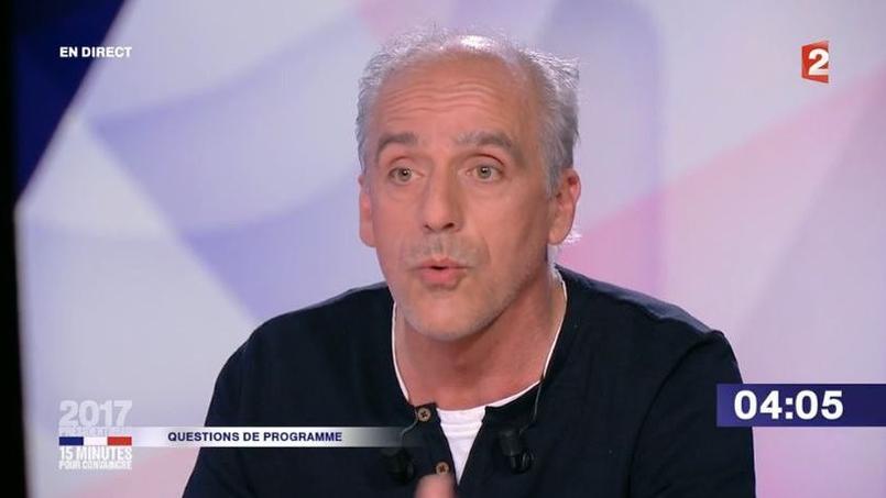 Capture d'écran. Philippe Poutou dans 15 minutes pour convaincre sur France 2.