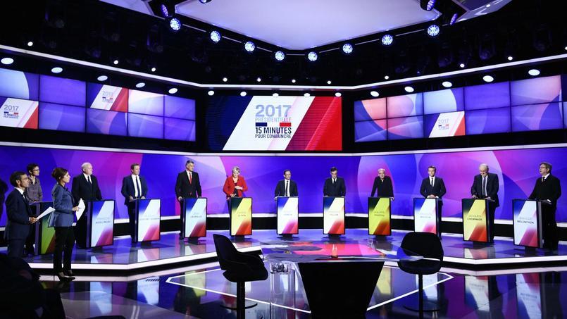 Les candidats à l'émission politique de France 2, jeudi soir.