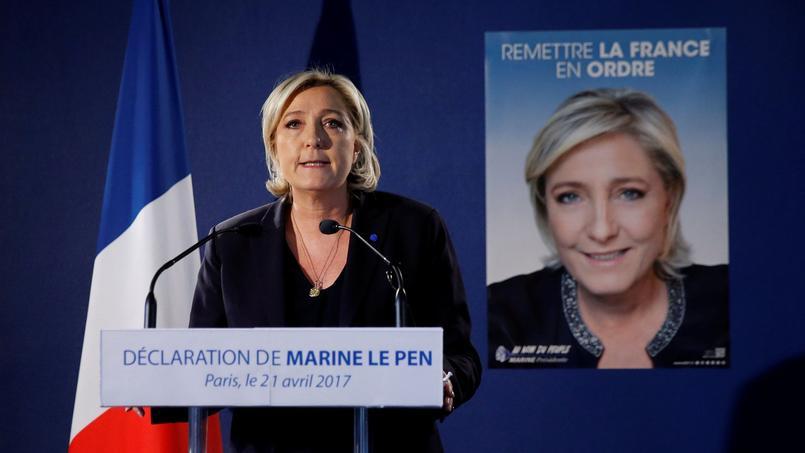 Marine Le Pen a fait une déclaration à son siège de campagne, ce vendredi matin.