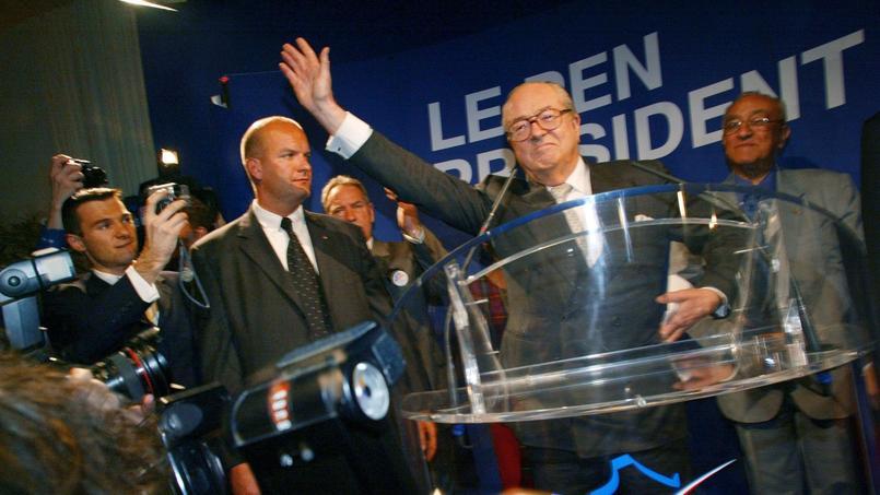 Jean-Marie Le Pen, le 21 avril 2002.