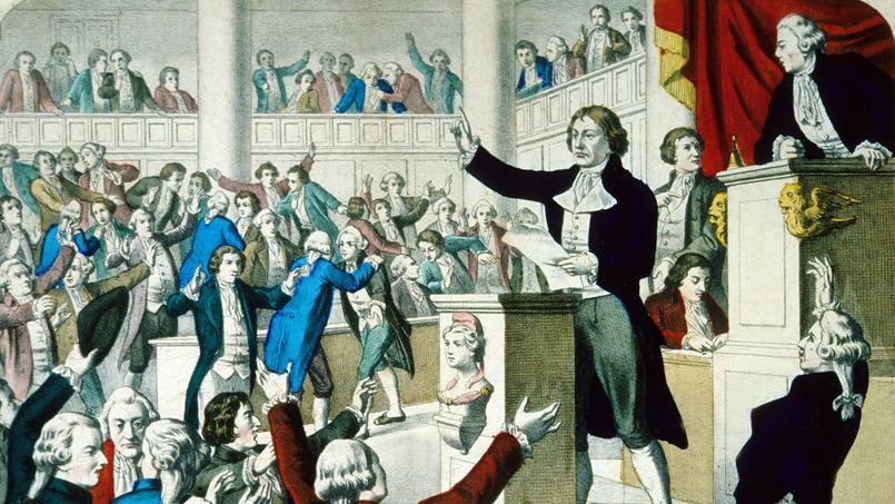 Convention Nationale: Première proclamation de la République sur la proposition du citoyen Grégoire (l'abbé Henri Grégoire) député, le 21 septembre 1792.