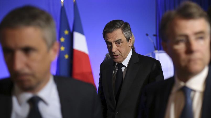 François Fillon, vendredi, à son QG de campagne où il a donné une conférence de presse