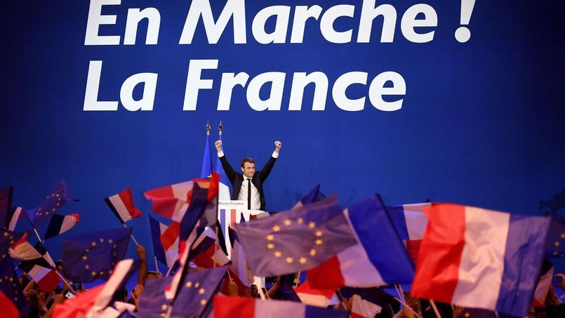 Emmanuel Macron hier au Parc des Expositions de Paris après l'annonce des résultats du premier tour.