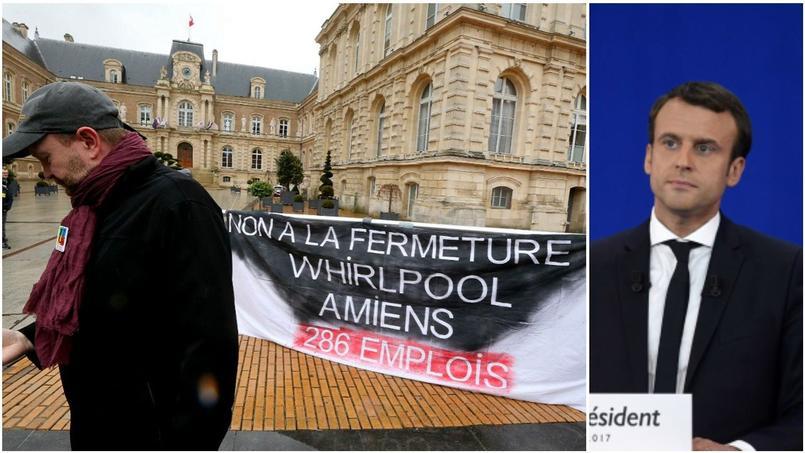 Macron à l'épreuve du feu face à des salariés menacés — France/présidentielle