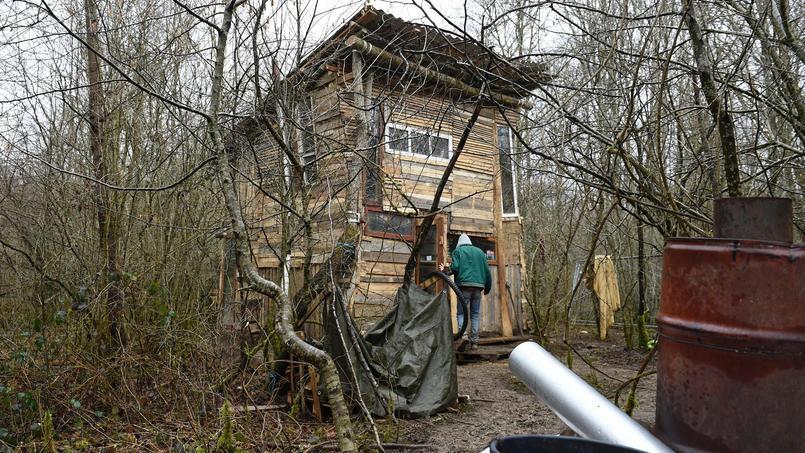 Des militants anti-Cigéo occupent le bois Lejuc depuis des mois.