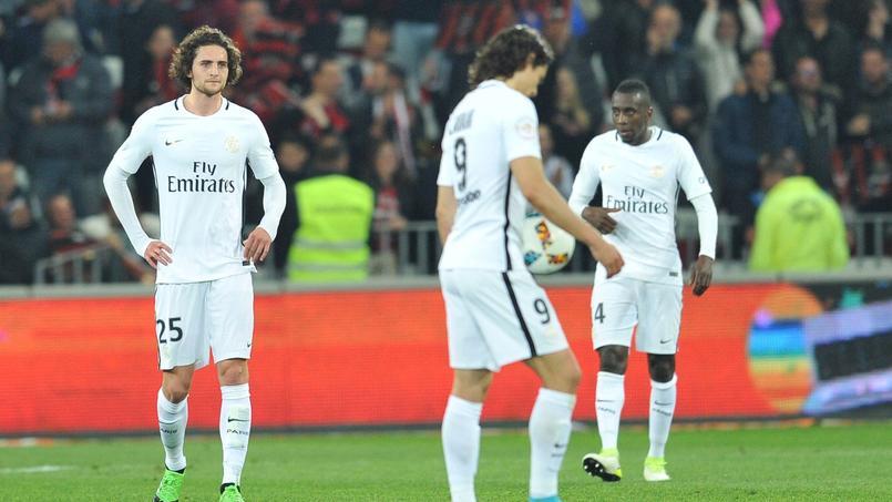 Les Parisiens, dépités, après leur contre-performance face à Nice (défaite 3-1)