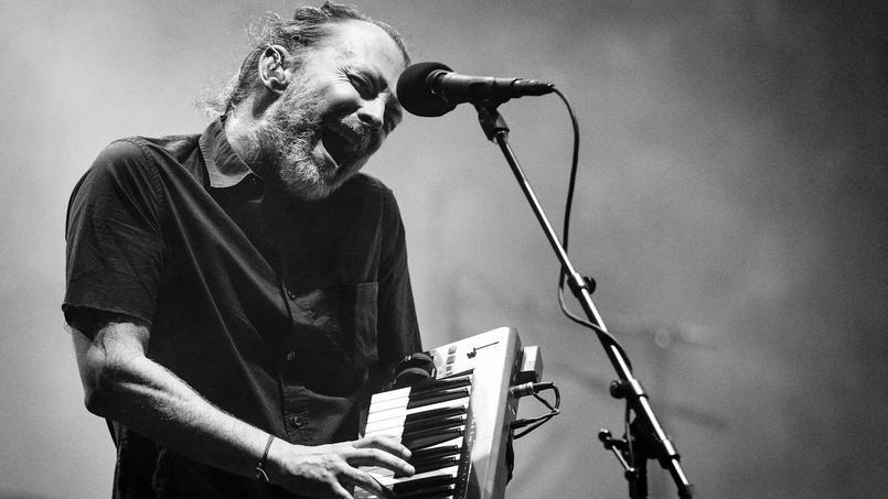 Thom Yorke, le chanteur de Radiohead, le premier jour du festival de Coachella, le 21 avril 2017, en Californie.