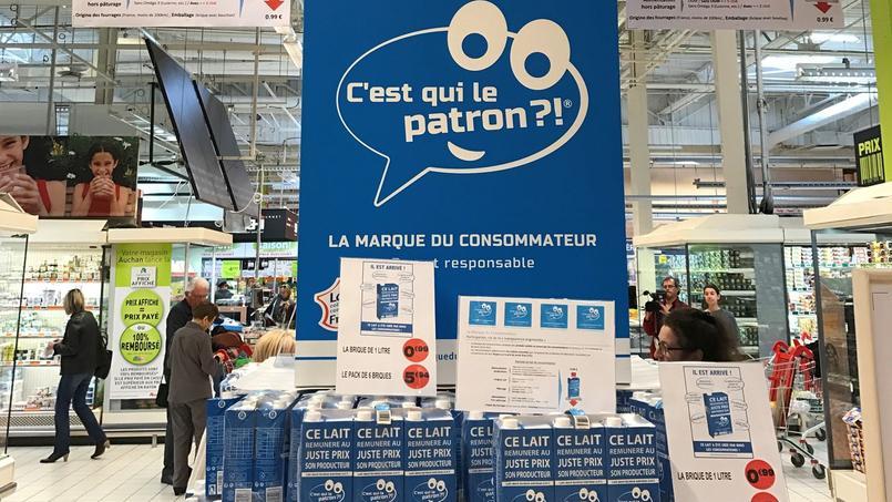 Le lait équitable est vendu sous la marque «C'est qui le patron?!».