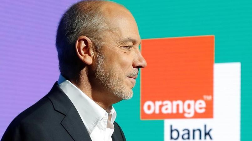 Stéphane Richard, le PDG d'Orange, lors du Show Hello, le 20 avril.
