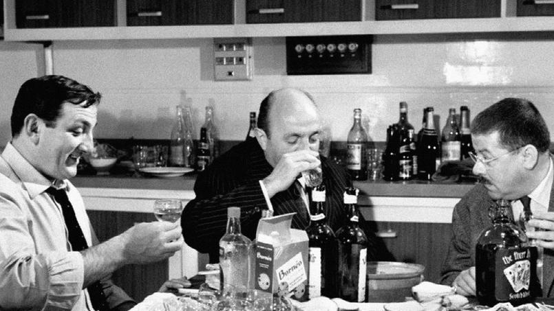 Lino Ventura, Bernard Blier et Francis Blanche dans Les Tontons flingueurs (1963).