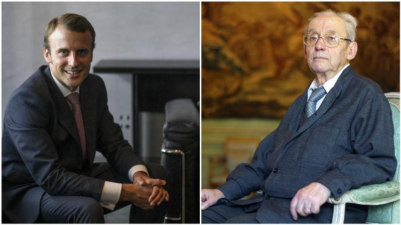 Emmanuel Macron s'est présenté comme l'assistant du philosophe, qui travaillait sur «La Mémoire, l'Histoire, l'oubli», dans les dernières années de sa vie.