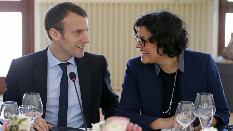 Emmanuel Macron et Myriam El Khomri à Metz, le 7 avril 2017.