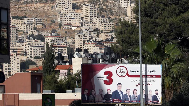 Affiche électorale à Naplouse, dans le nord de la Cisjordanie.