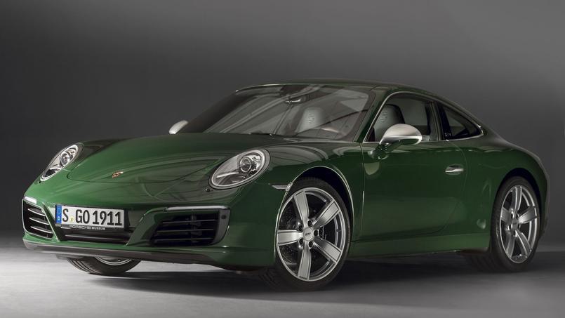 La millionième Porsche 911 dans sa teinte spéciale «Irish green» appréciée de Wolfgang Porsche.