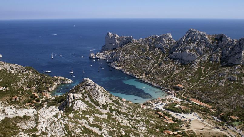 Calanques entre Marseille et Cassis.