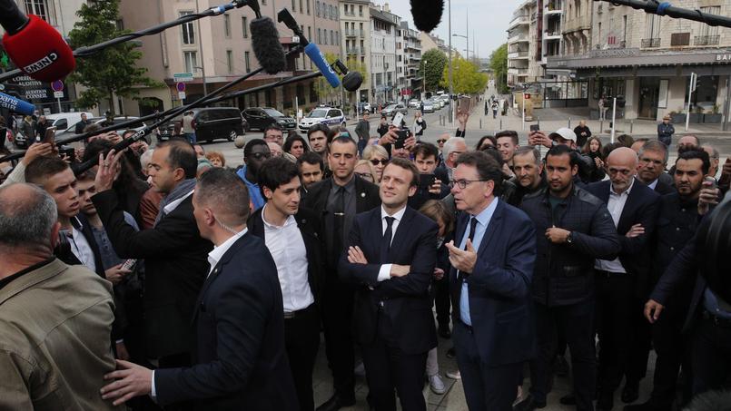 Emmanule Macron en visite à Rodez, le 5 mai dernier.