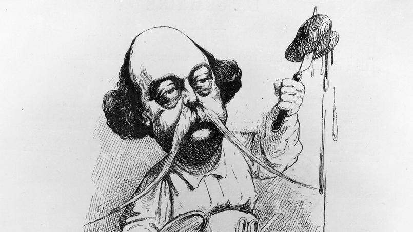 Gustave Flaubert disséquant Madame Bovary dans Parodie, décembre 1869.