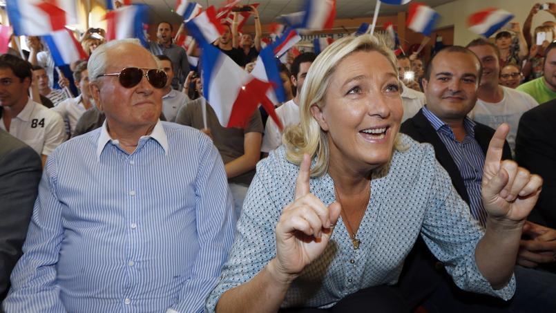 Jean-Marie Le Pen et Marine Le Pen.