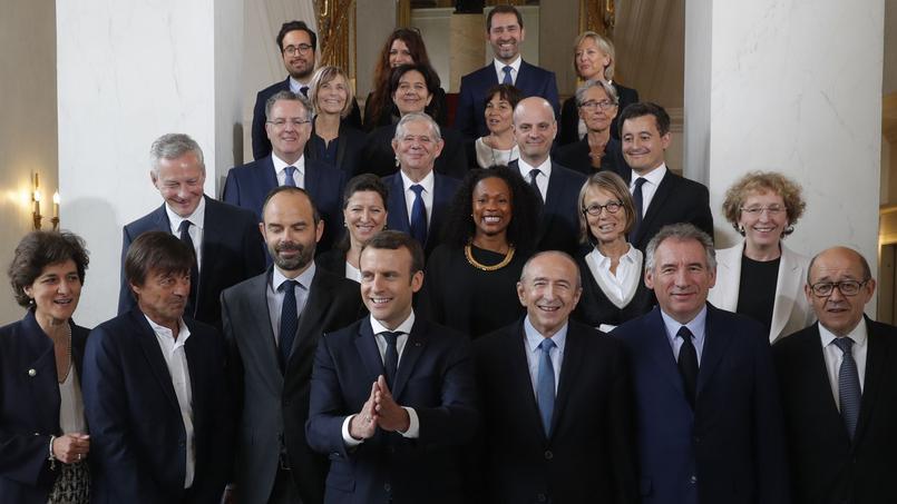 Le président Emmanuel Macron et son gouvernement.