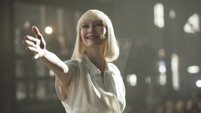Tilda Swinton dans «Okja». Le film a connu un début de projection mouvementé vendredi à Cannes avec une interruption de plusieurs minutes pour un problème technique et des sifflets.
