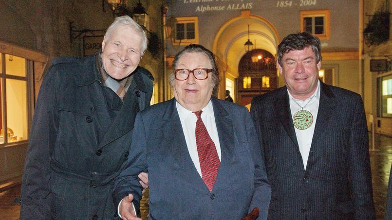 L'écrivain Christian Casabona (à droite), ici au côté du professeur Christian Cabrol (à gauche) de l'humoriste Raymond Devos, est décédé mardi 16 mai à l'âge de 66 ans.
