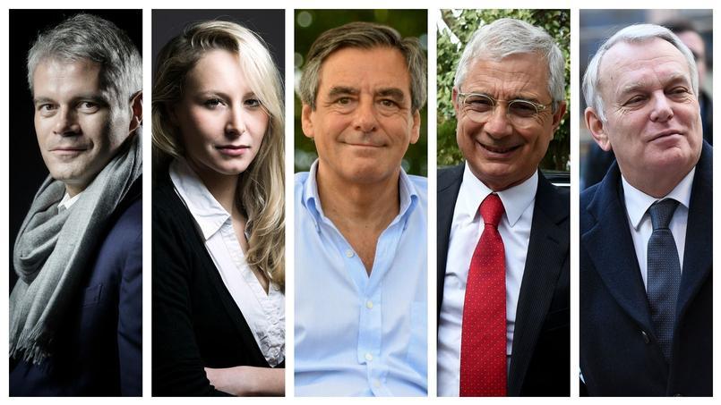 Laurent Wauquiez, Marion Maréchal-Le Pen, François Fillon, Claude Bartolone et Jean-Marc Ayrault.