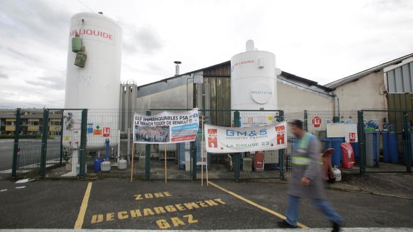 L'usine GM&S de La Souterraine menacée de liquidation et occupée depuis plus d'une semaine par ses salariés.