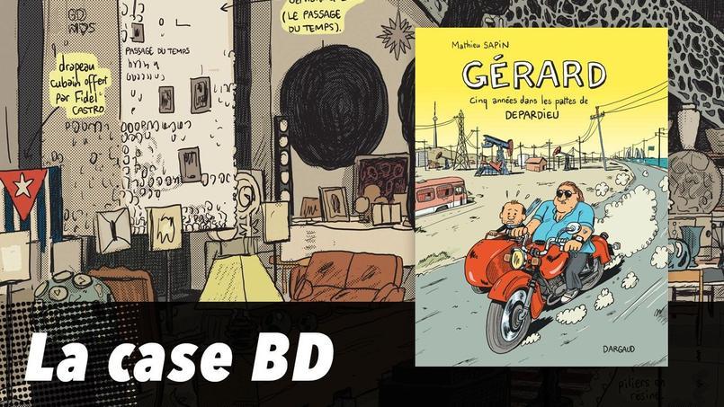 Gérard Depardieu se révèle sans fard dans l'album de Mathieu Sapin, «Gérard cinq années dans les pattes de Depardieu». Le dessinateur décrypte pour Le Figaro une planche phare de l'album.