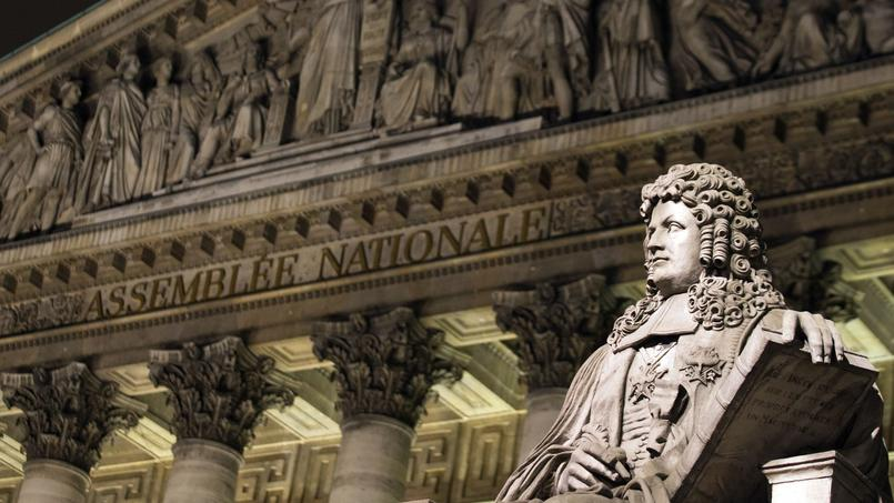 Le Palais Bourbon (Assemblée nationale), à Paris.