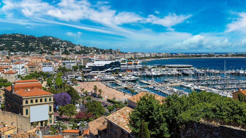 Vue de la ville de Cannes.