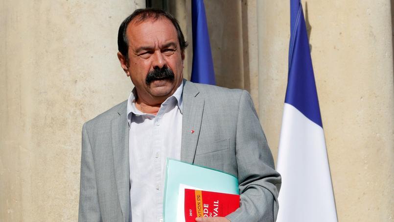 Philippe Martinez, ce mardi matin, lors de son arrivée à l'Élysée pour rencontrer Emmanuel Macron.