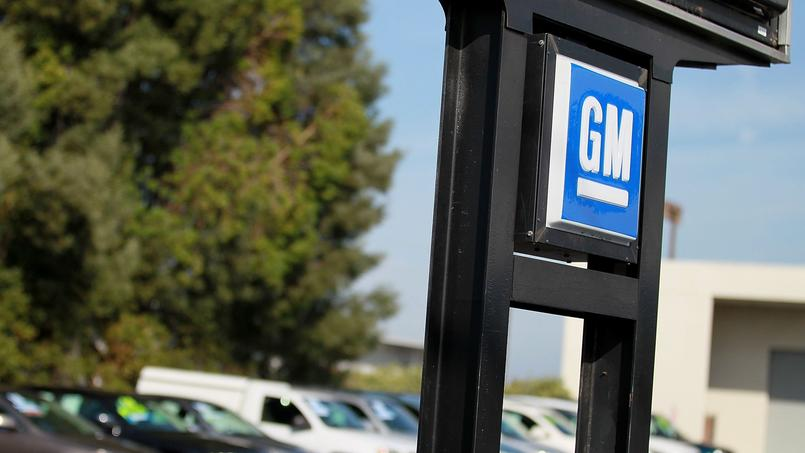 Le logo de General Motors (GM). JUSTIN SULLIVAN/AFP