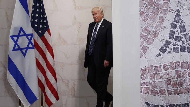 Donald Trump avant un discours au Musée israélien de Jérusalem, le 23 mai dernier.