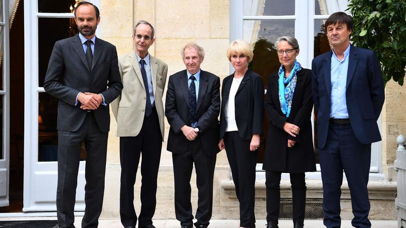 Michel Badré, Gérard Feldzer et Anne Boquet ont été reçus à Matignon par le premier ministre Édouard Philippe, la ministre des Transports Élisabeth Borne et le ministre de la Transition écologique, Nicolas Hulot.