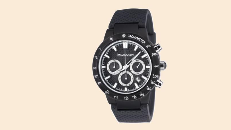T'es un champion mec, en acier, chronographe automatique. Mauboussin, 1045 €.