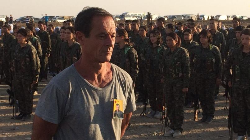 Photo de Patrice Franceschi prise par des combattants kurdes.