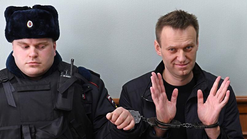 Alexeï Navalny après son arrestation à Moscou le 30 mars.