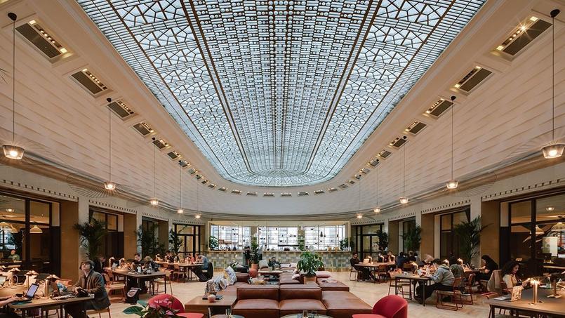 Le hall de l'immeuble de WeWork, à Paris (9e arrondissement). Crédit: WeWork France.