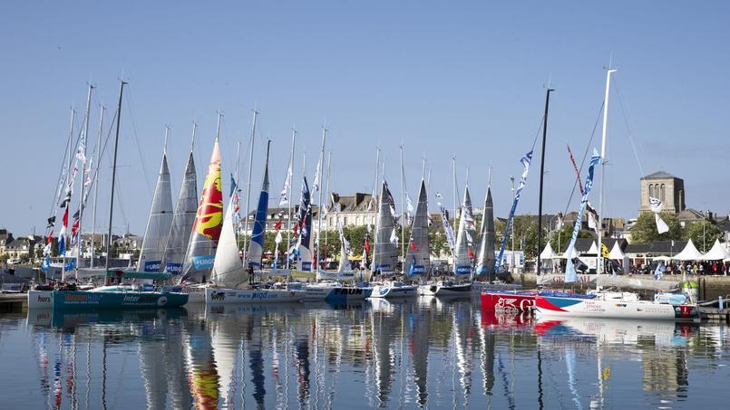 Les concurrents retrouvent pour la 7e fois le port de Cornouaille. Ils ont jeté l'ancre au pied de la criée face à la fameuse Ville close.