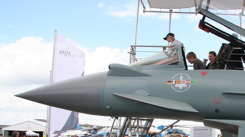 Eurofighter Typhoon avec des missiles MBDA Meteor, au Salon du Bourget 2009.