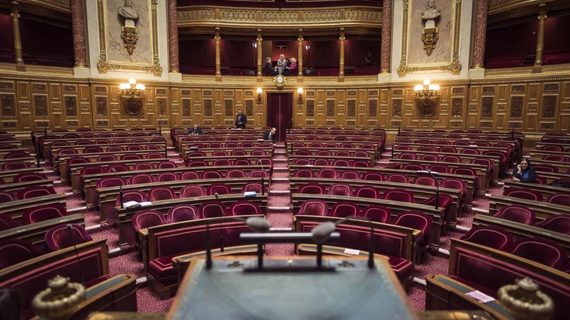 L'hémicycle de l'Assemblée nationale, dans le VIIe arrondissement de Paris.