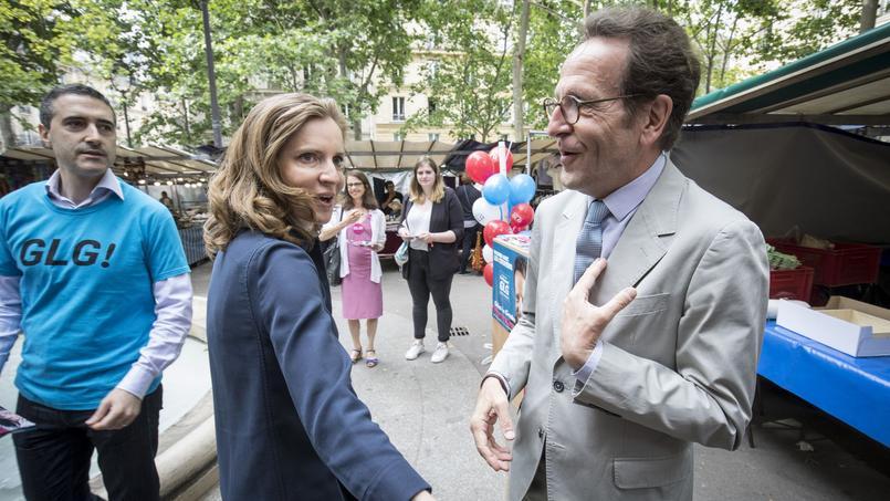 Nathalie Kosciusko-Morizet et Gilles Le Gendre, cette semaine, sur un marché parisien.