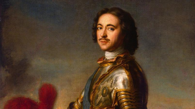 Pierre Ier de Russie par Jean-Marc Nattier (1717, détail). C'est en la personne du peintre français que le tsar et son épouse Catherine trouveront leur meilleur artiste.