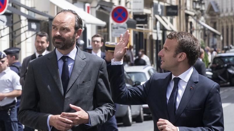 Édouard Philippe et Emmanuel Macron le 23 mai à Paris.