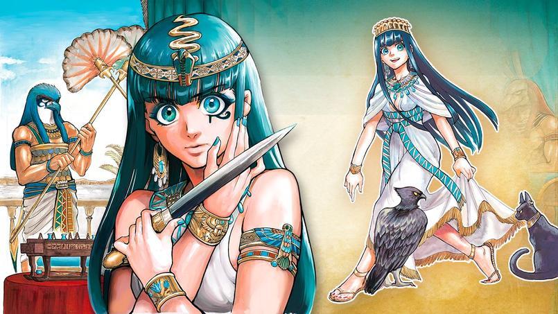 Hatchepsout, la première femme Pharaon sous les traits fins et stylisés de Chie Inudoh